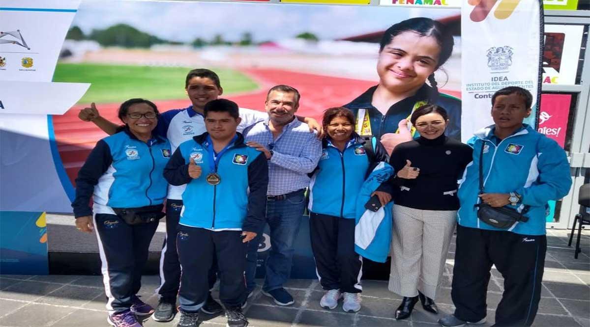 Cosecharon 6 medallas de oro deportistas especiales en Aguascalientes