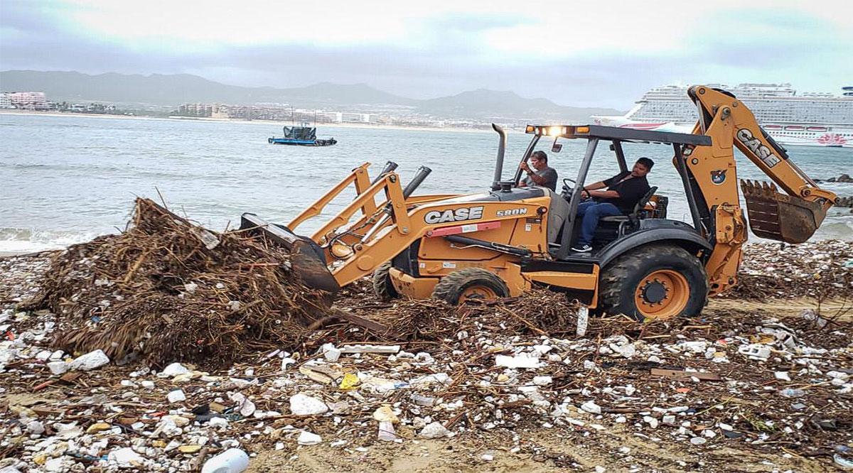 Retiran 454 toneladas de basura en playas de Los Cabos