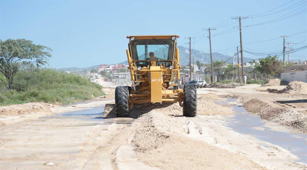 Han retirado de las calles de Los Cabos más de mil toneladas de tierra