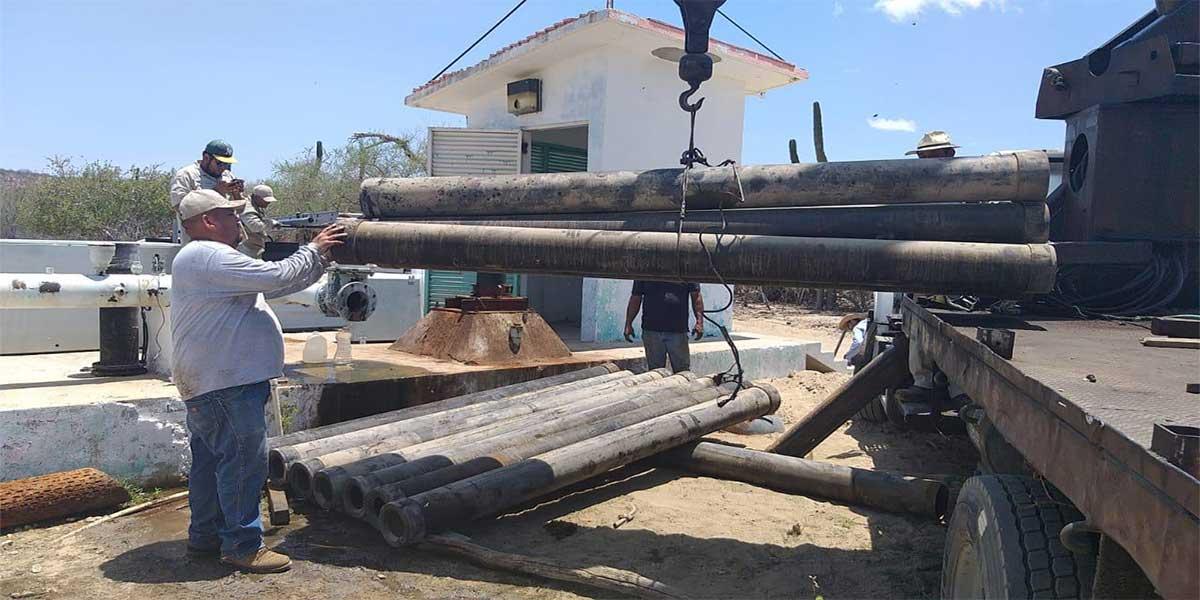 Recuperan 123 litros por segundo de agua potable con la reactivación de pozos en Los Cabos