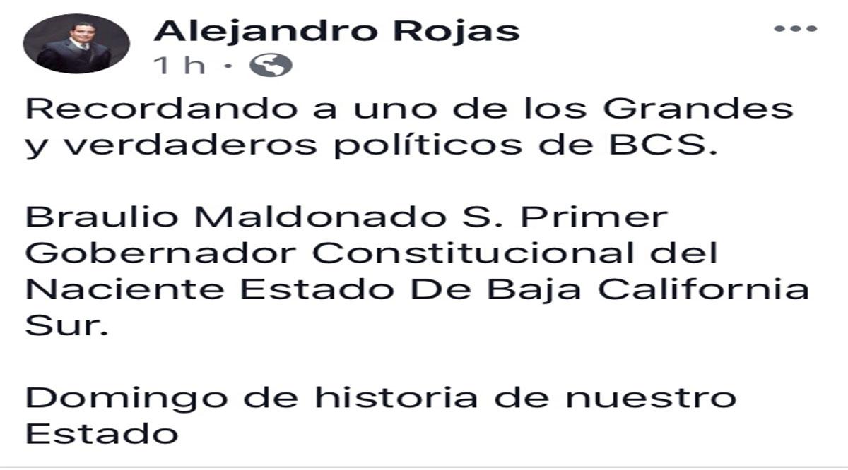 Cambia Alejandro Rojas historia de BCS; tras observaciones corrige