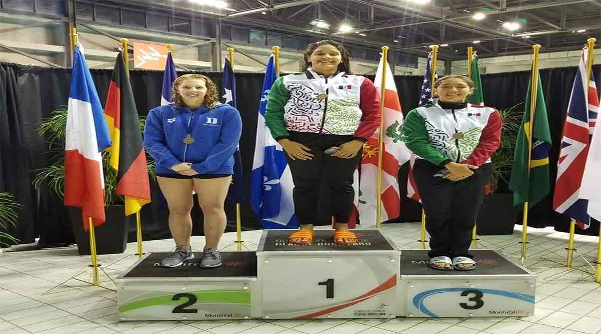 Se colgó sudcaliforniana Aranza Vázquez medalla de oro en Canadá
