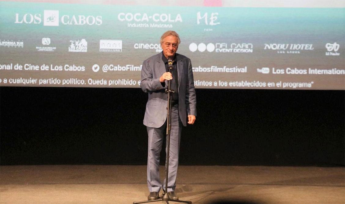 Presente Robert De Niro en arranque del Festival Internacional de Cine Los Cabos