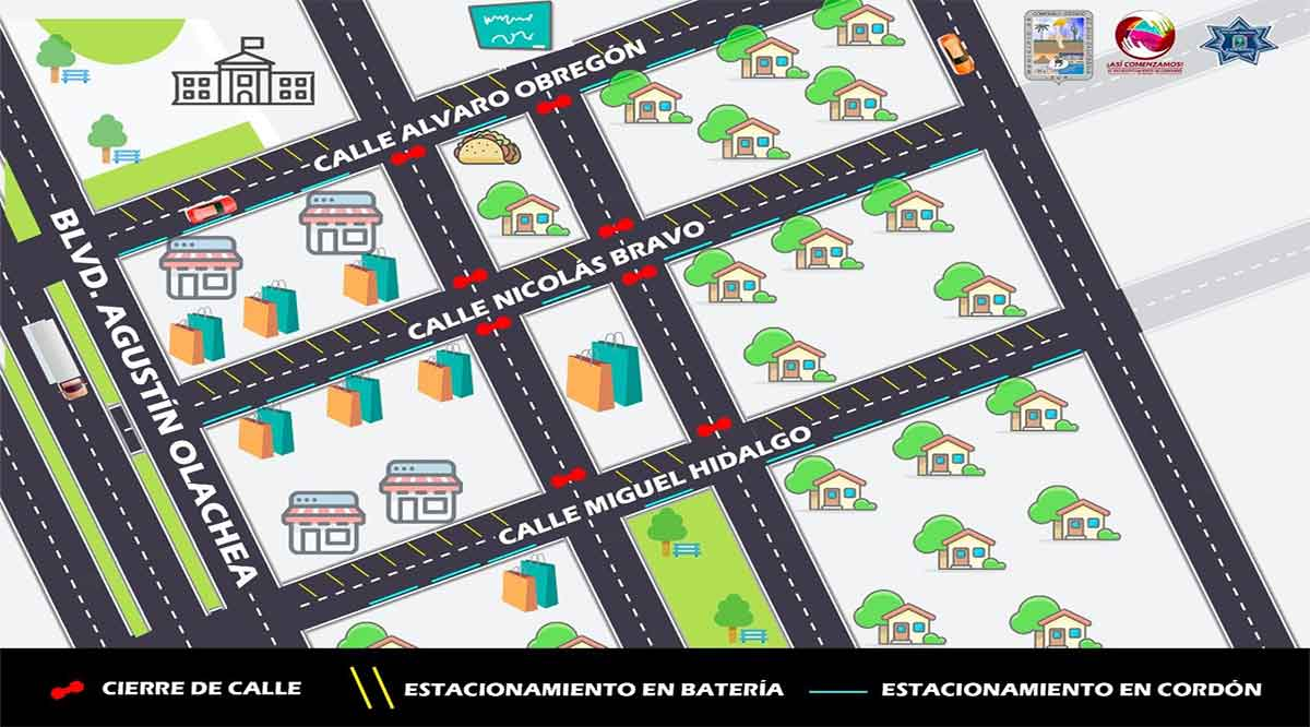 Modifican en Ciudad Constitución estacionamiento en la zona Centro en estas fechas decembrinas