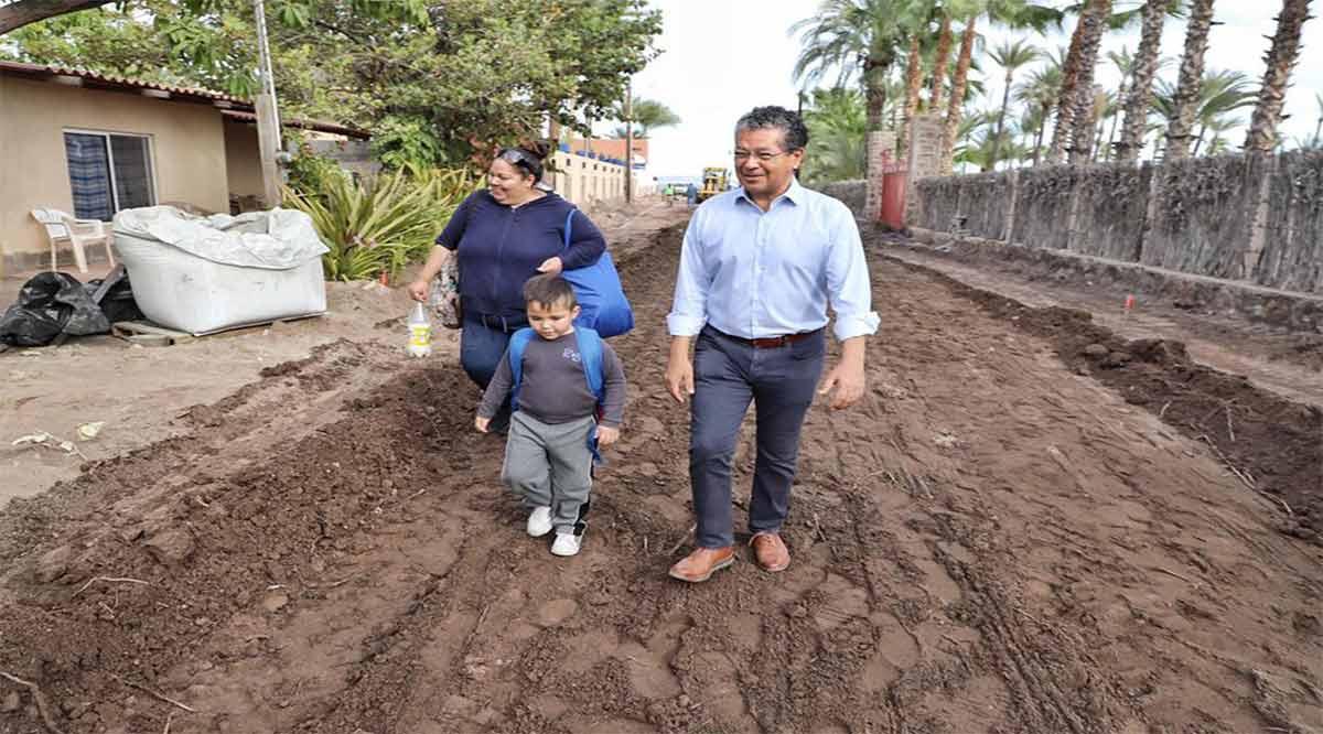 Contemplan entregar la primera semana de abril la pavimentación de la calle Morelos en Loreto