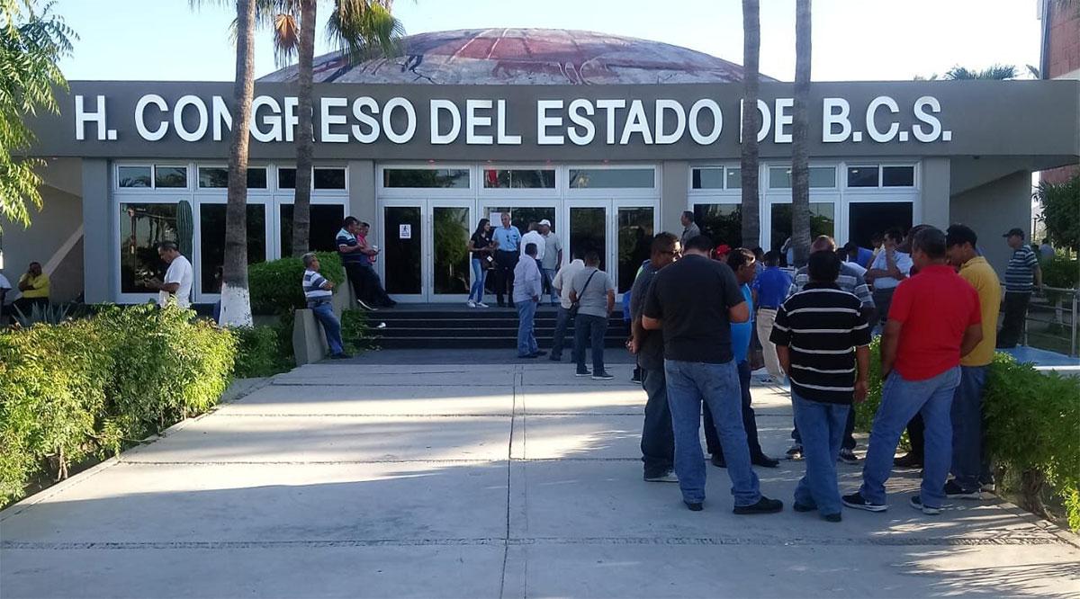 Se retiraron los elementos de la PEP de las instalaciones del Congreso de BCS