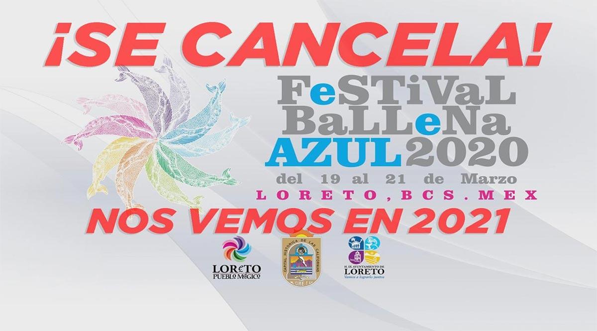 Cancelan Festival de la Ballena Azul en Loreto