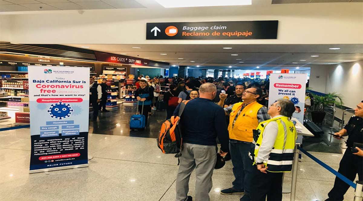 Opera filtro sanitario en Aeropuerto de Los Cabos