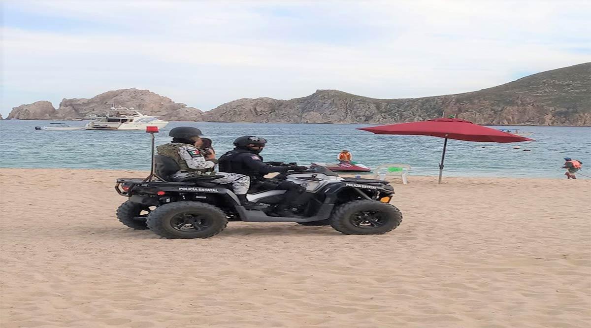 """Participan 45 elementos de la Policía Estatal Preventiva en operativo """"Spring Break"""" Los Cabos"""