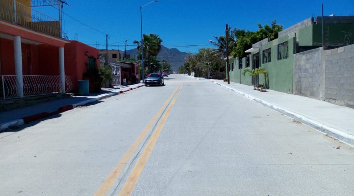Pavimentaron 22 calles en Los Cabos con inversión superior a los 181 mdp