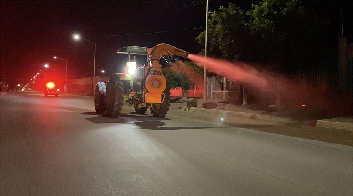 Sanitizaron 18 km2 de Ciudad Constitución