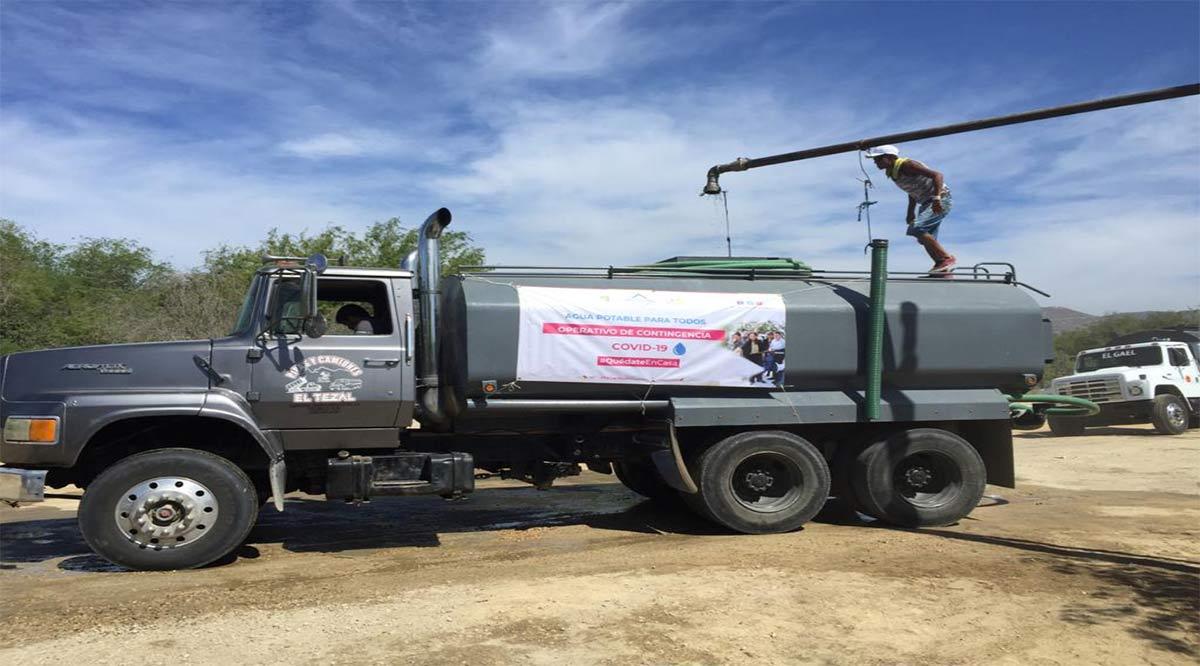 Se han distribuido más de 20 millones de litros de agua en Los Cabos
