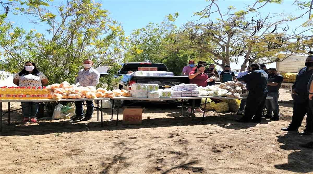 Entregaron apoyos alimenticios en el Ejido Josefa Ortíz