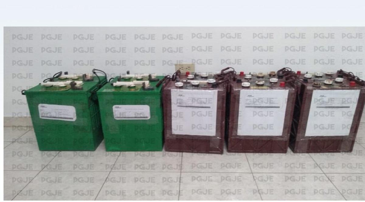 Recuperaron 10 baterías robadas en Mulegé