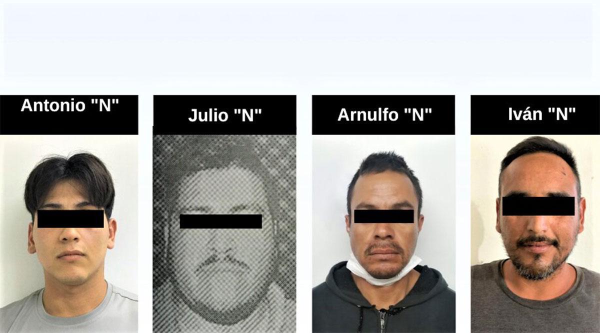 Detienen a 5 sujetos por la comisión de varios delitos