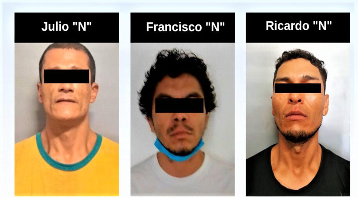 Detienen a 3 personas en La Paz relacionadas en hechos delictivos