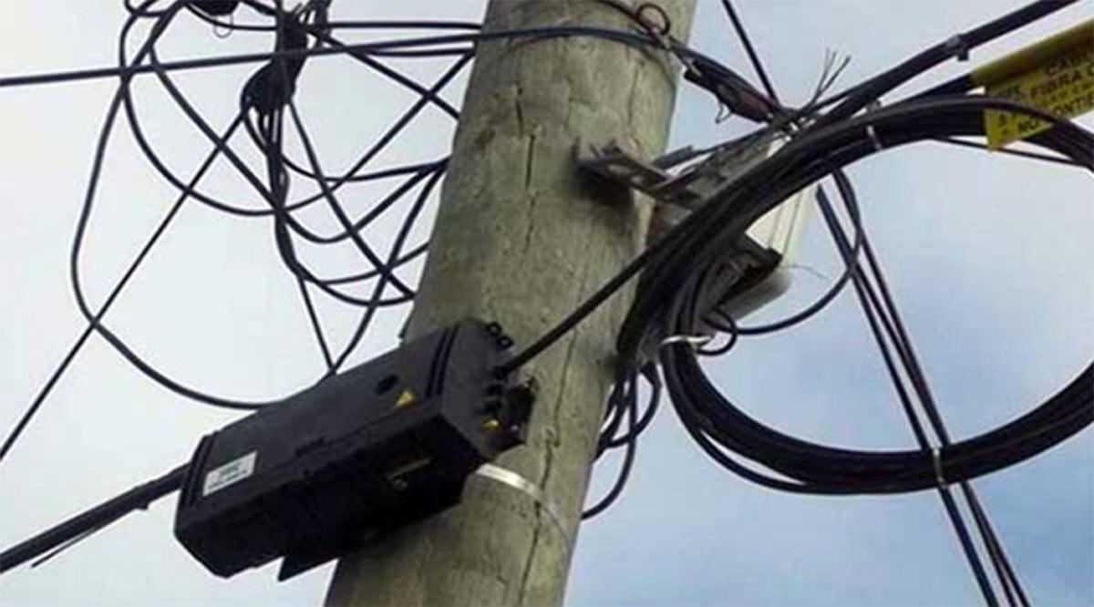 Otro robo de cable a Telmex