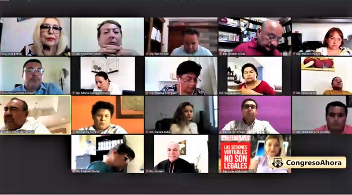 En polémica sesión virtual, legisladores de Morena reprueban cuentas públicas