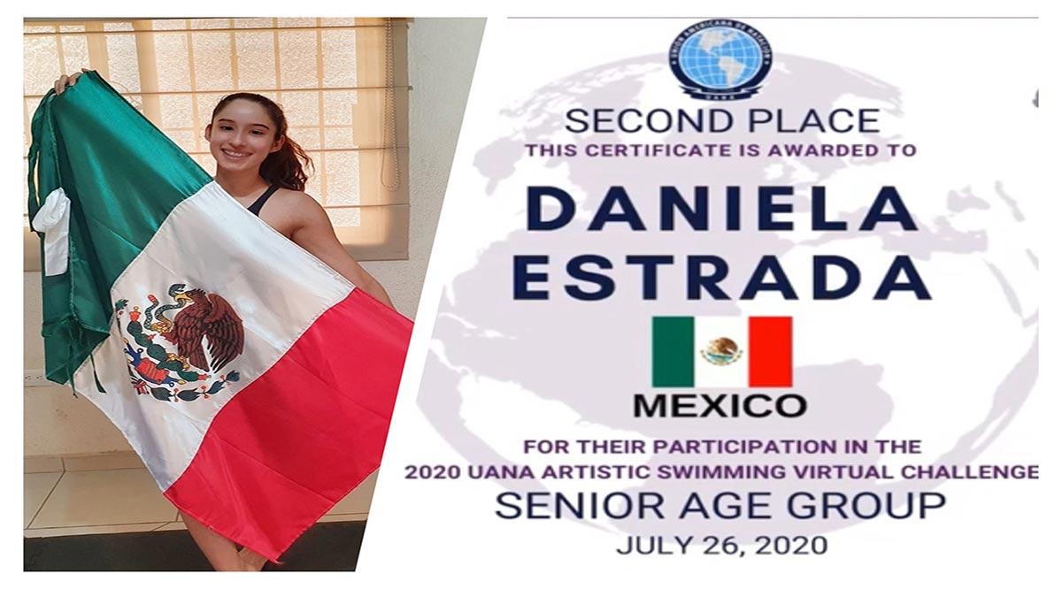 Obtiene Daniela Estrada subcampeonato en el Mundial de Natación Artística