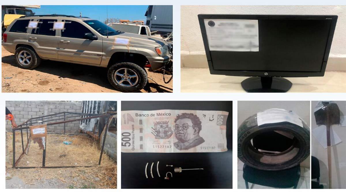 Localizan artículos y vehículo con reporte de robo