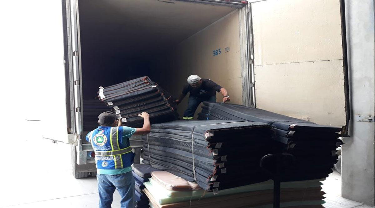 Se han entregado más de 90 mil artículos para habilitar refugios temporales en BCS