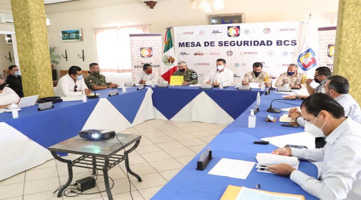 Refuerza Mesa de Seguridad operaciones coordinadas en Mulegé