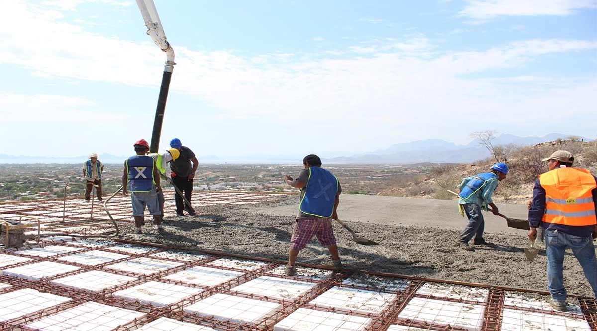 Avanza la construcción de pila de almacenamiento de agua potable en Loreto