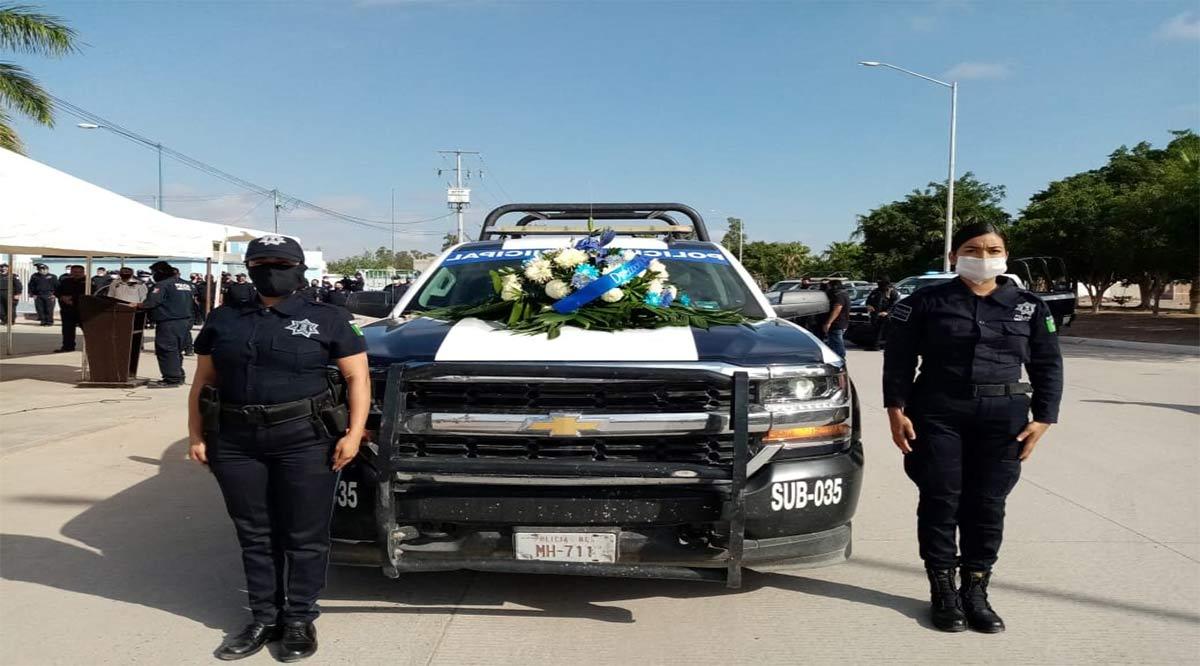 Despiden con honores a agente de Seguridad Pública de Comondú