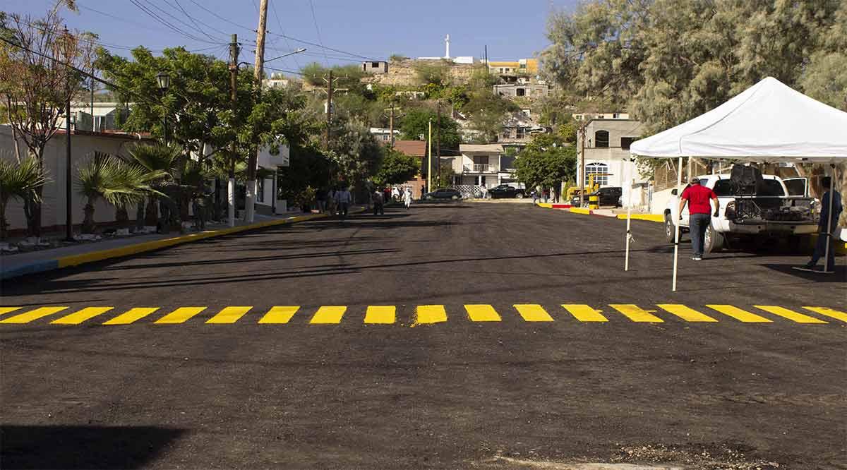 Entregaron calle pavimentada en Santa Rosalía