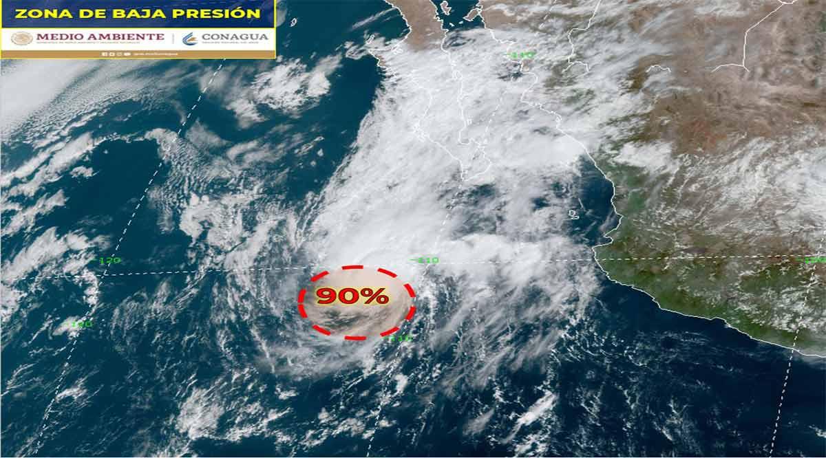 Aumenta a 90% probabilidad de que zona de baja presión se convierta en desarrollo ciclónico