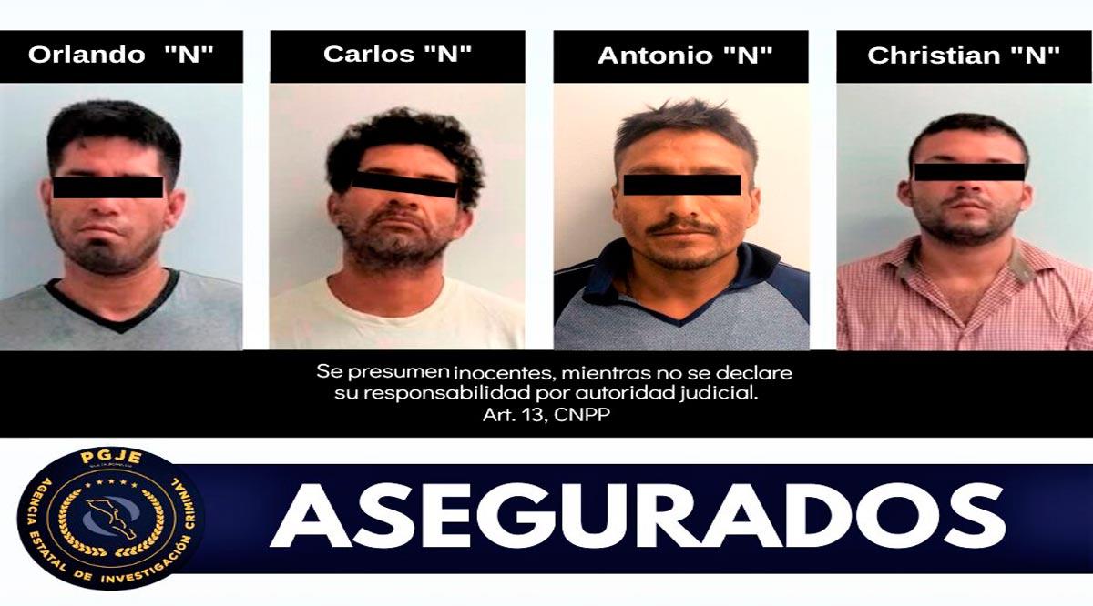 Aseguran a 4 personas con droga en La Paz