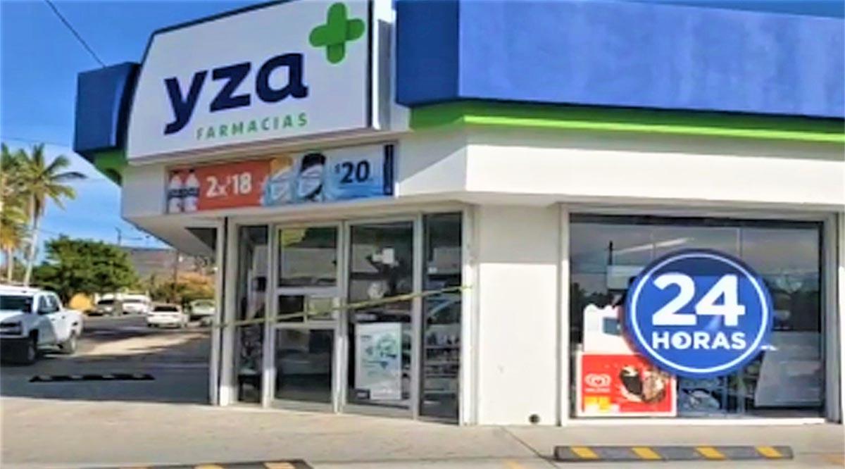 Asaltaron una farmacia Yza y una tienda Oxxo en La Paz