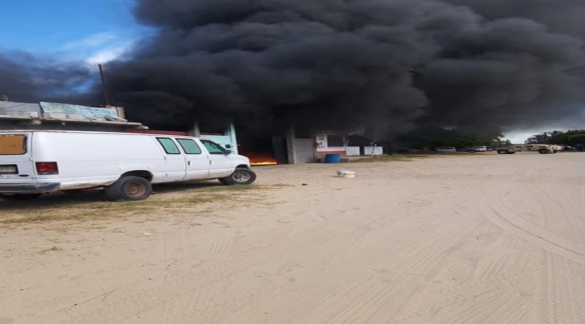 Incendio en vivienda de Puerto San Carlos