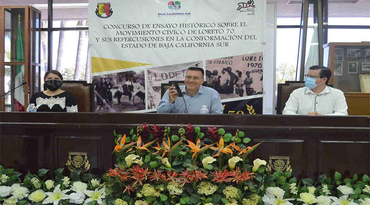Ganó Luis Alberto Trasviña el Concurso de Ensayo Histórico sobre Loreto 70