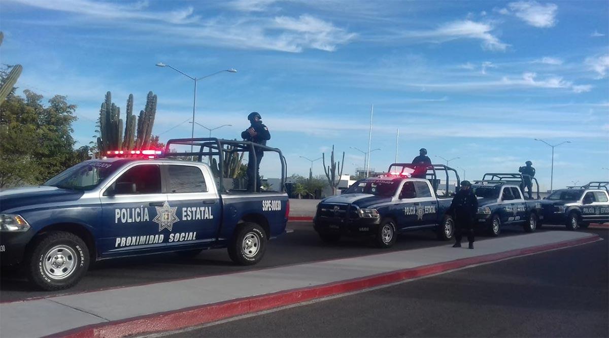 Detienen a sujeto a bordo de un vehículo robado en La Paz