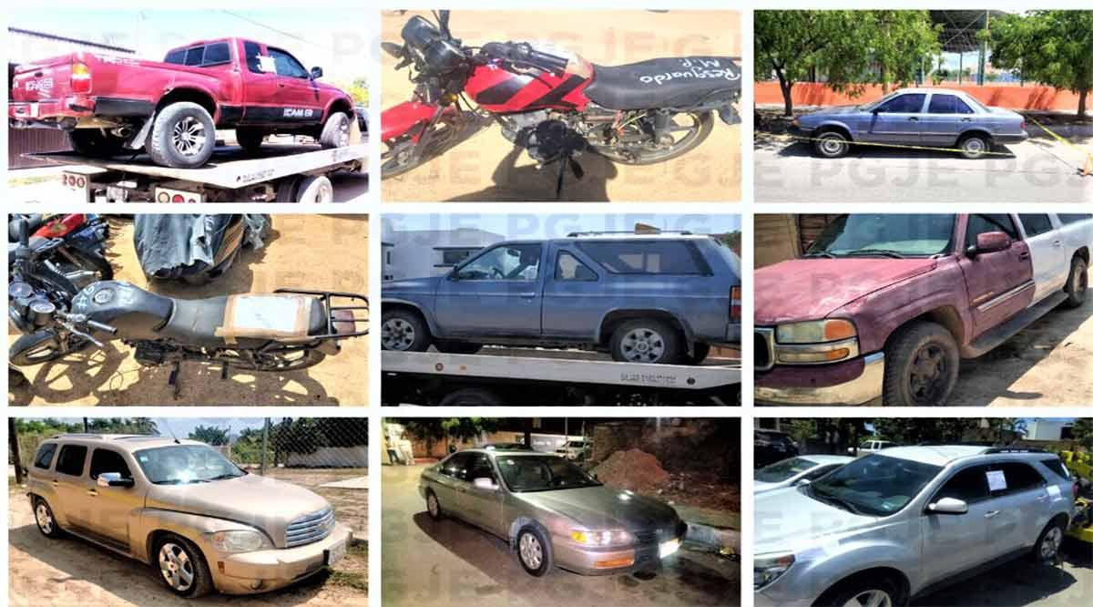 Recuperó la PGJE 34 vehículos robados en septiembre