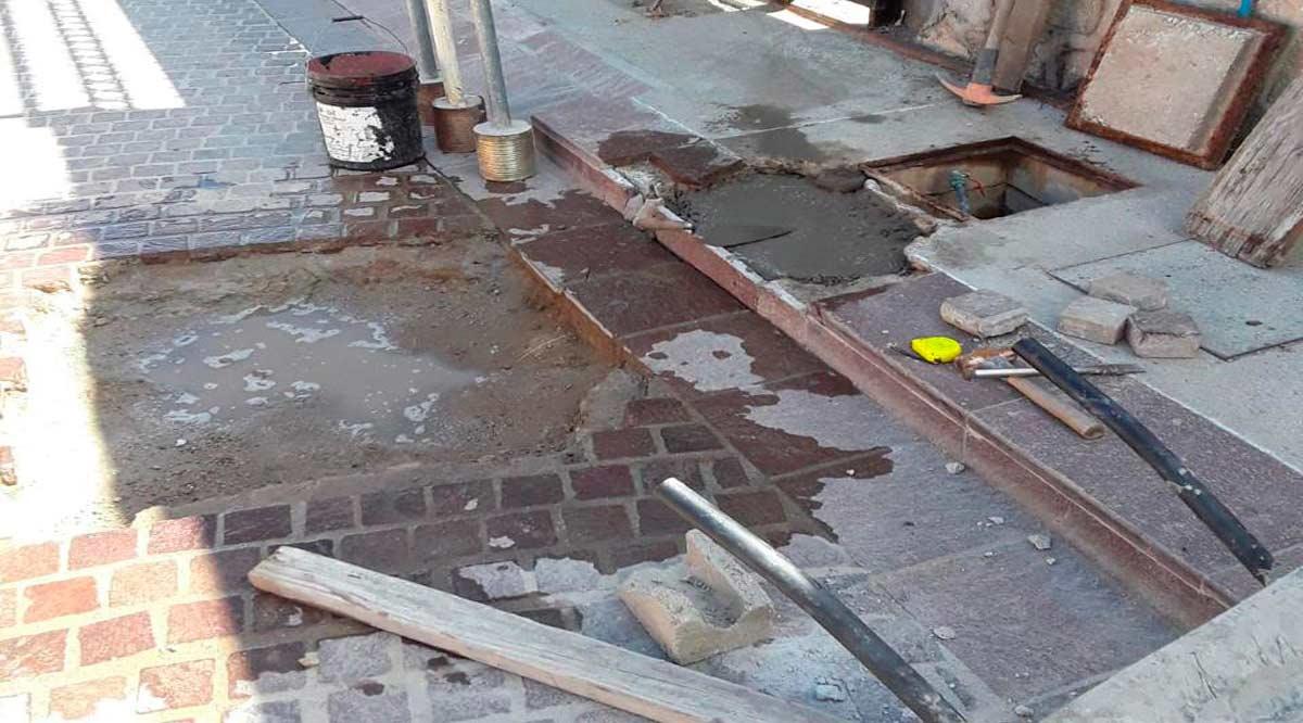 Inicia Programa de Bacheo y Reparación de Registros en el Centro Histórico de SJC