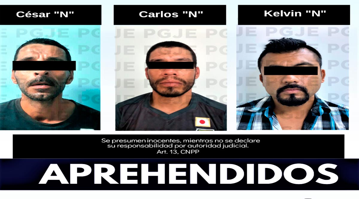 Detuvieron a tres sujetos en BCS por la comisión de diversos delitos