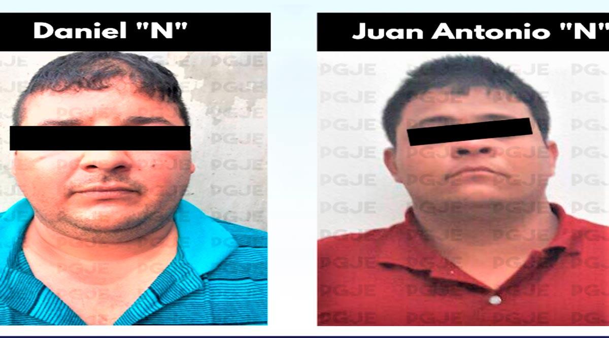 Sentencian a 15 y 12 años de prisión a imputados por homicidio de dos elementos de la PGJE