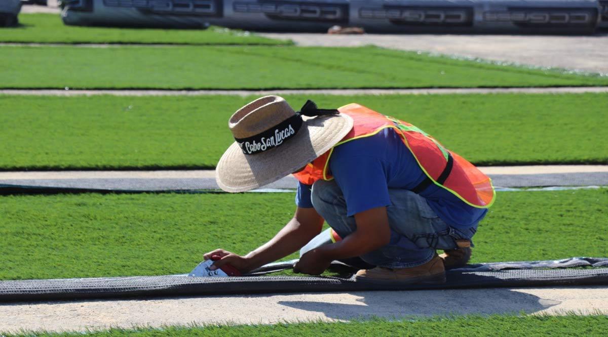 Rehabilitan parques de la colonia Lomas del Sol en CSL