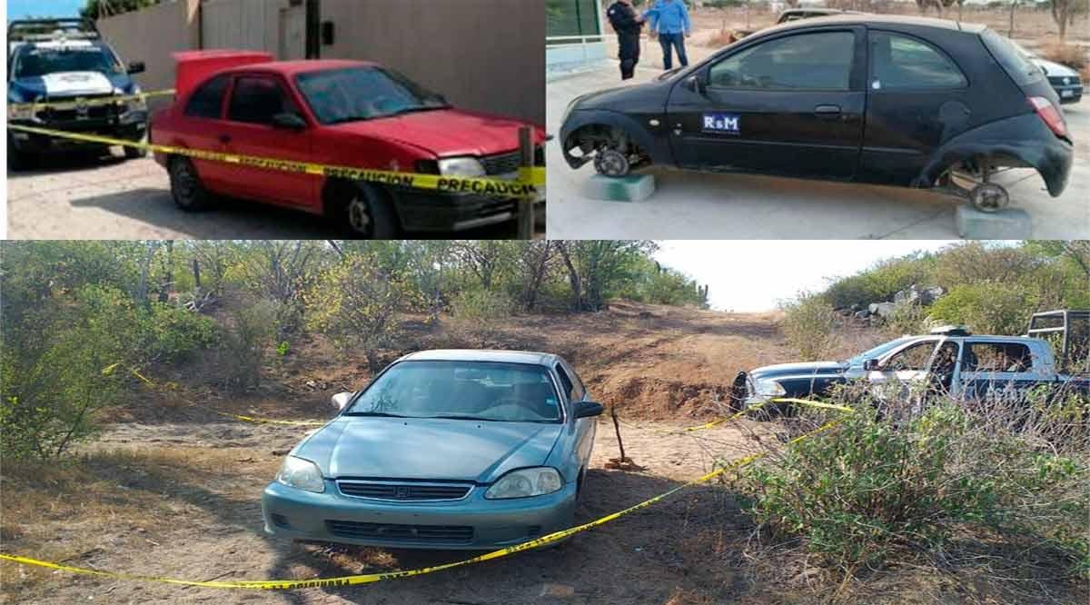 Capturan a sujeto con carro robado y localizan 3 más en La Paz