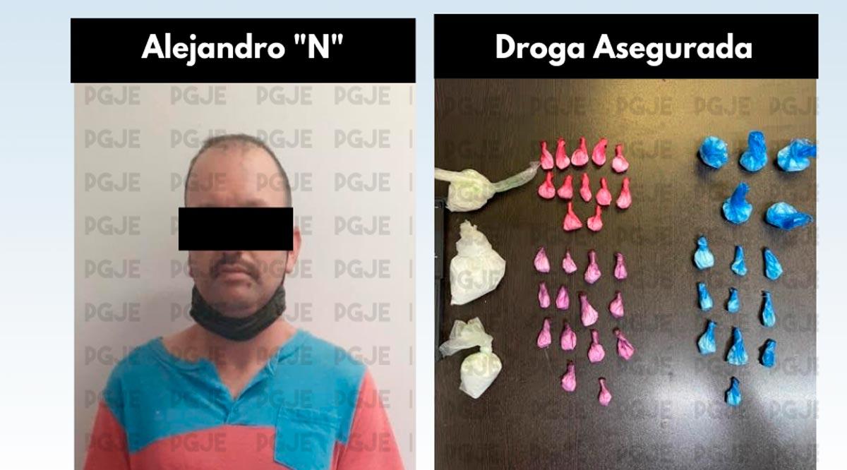 Detienen a 2 personas en La Paz con 2,700 dosis de droga