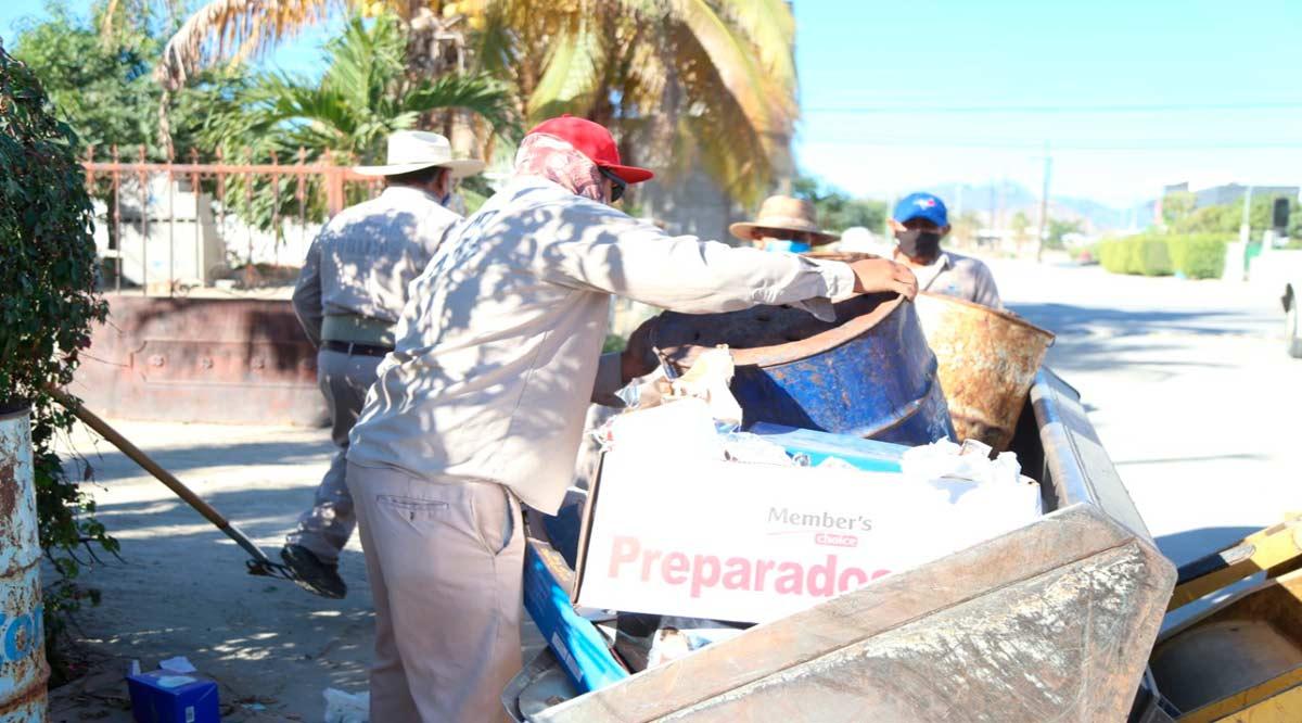 Se retiraron más de 140 mil toneladas de basura en Los Cabos en el 2020