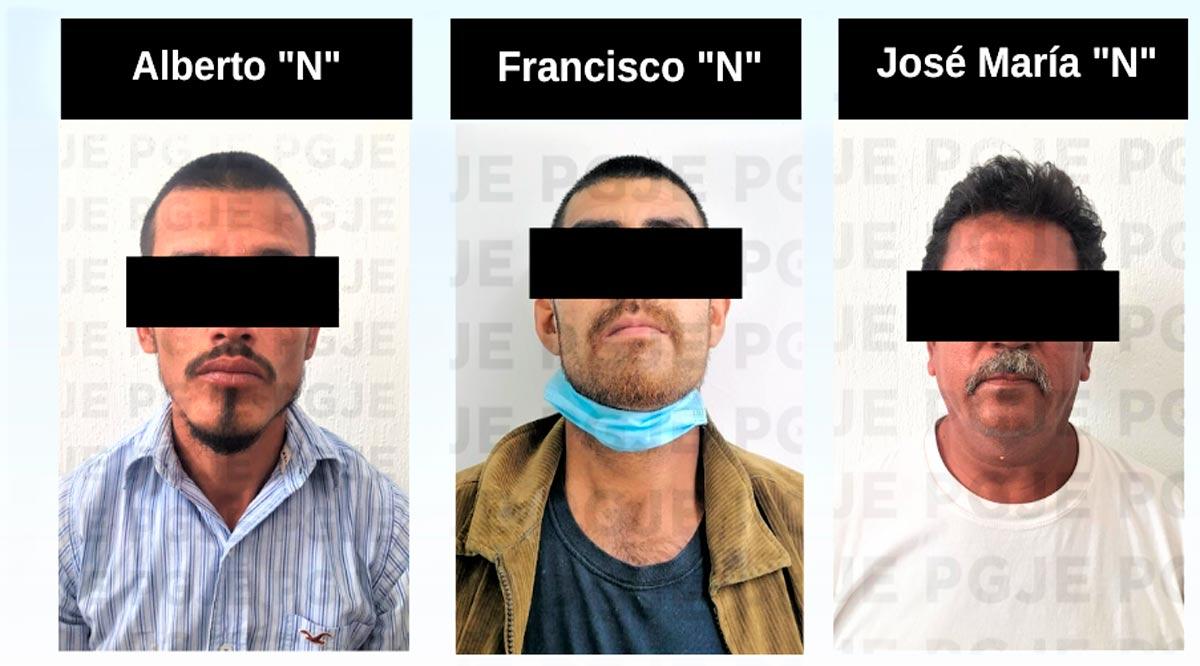 Detiene la PGJE a 2 hombres en La Paz y a uno en Los Cabos