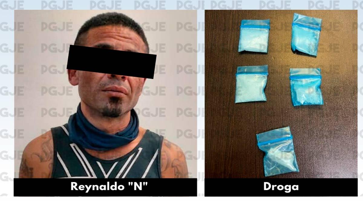 """Aseguran a """"El Mochis"""" con 200 dosis de cristal en La Paz"""