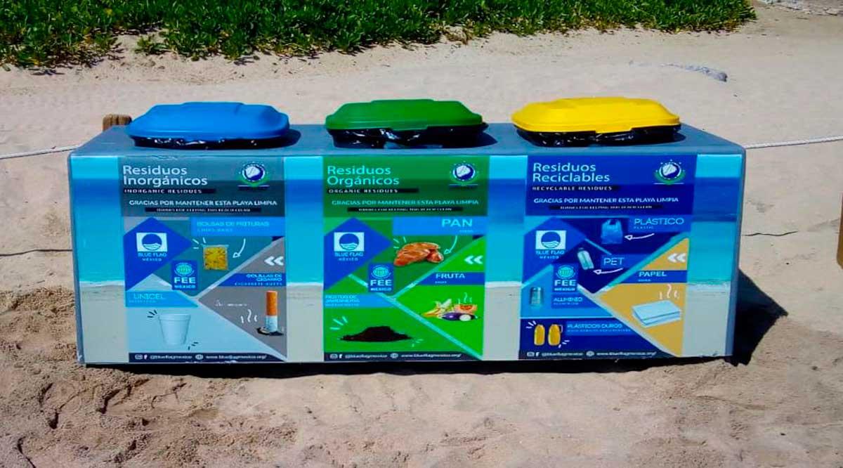 Colocan en playas de Los Cabos nuevos módulos para acopio de residuos sólidos