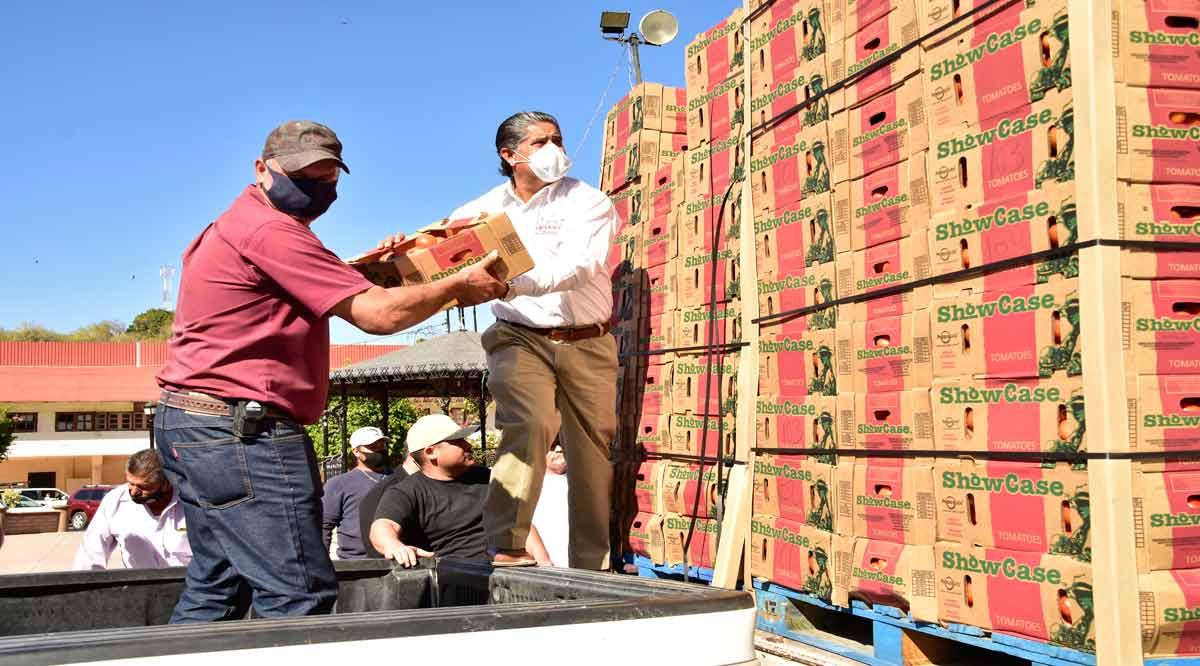 Distribuyen en Mulegé 32 toneladas de tomate a la población vulnerable