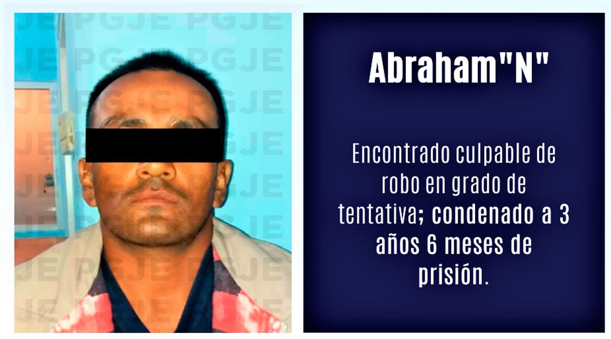 Sentenciado a 3 años 6 meses en prisión por robo con violencia en grado de tentativa en Loreto