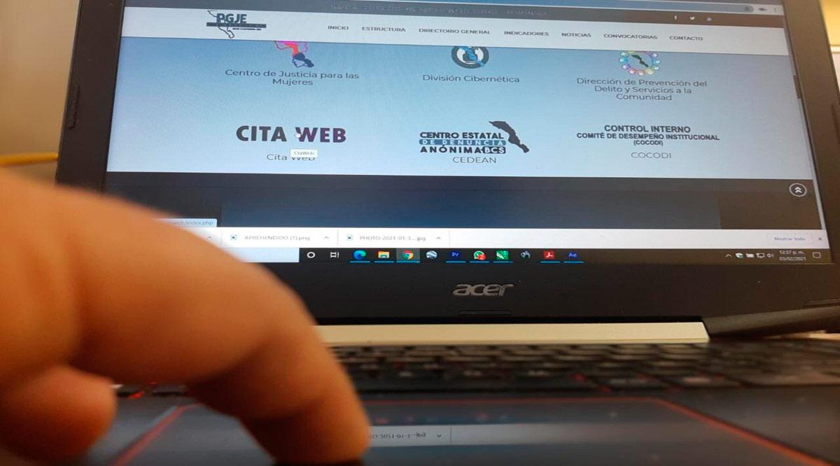 Se atendieron a 1,445 personas en 2020 a través de Cita Web de la PGJE