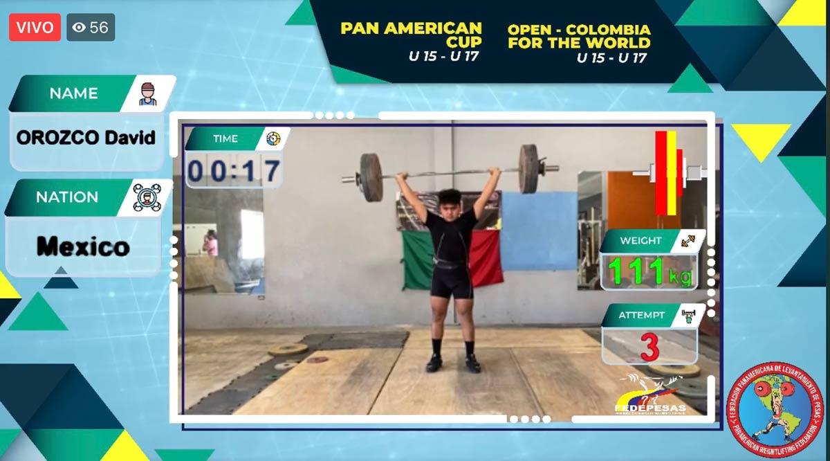 Obtiene David Orozco plata y bronce en Panamericano de Pesas